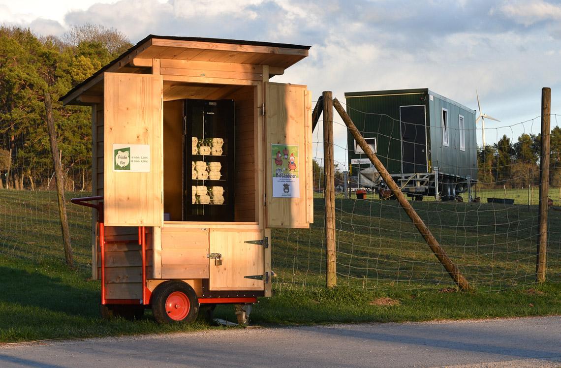 Hühnermobil Verkaufswagen Erlebnis Bauernhof Waldmössingen