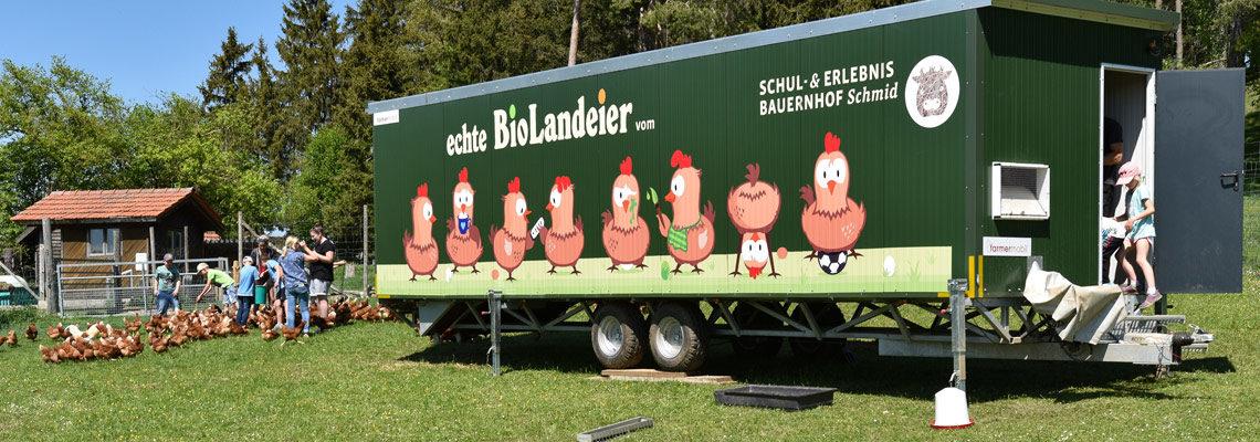 Mobiler Hühnerstall Erlebnis Bauernhof Waldmössingen